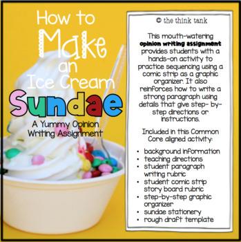 How to Make an Ice Cream Sundae: Opinion Writing Experience
