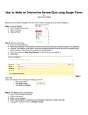 How to Make an Interactive Worksheet/Review/Quiz Using Google Forms