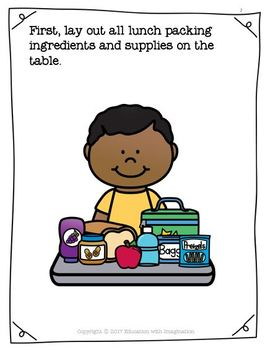 How to Make and Pack a Lunch Interactive Story, Flashcards and Worksheets