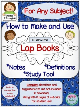 How to Make and Use Lap Books for Any Subject / Student Interactive Tool