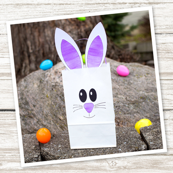 paper bag bunny craft easter by fireflies and mud pies tpt