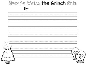 How to Make the Grinch Grin {A Holiday Writing Craftivity}