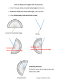 How to Measure Angles with Protractors (Notes for Students)