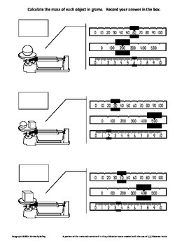 Learn to Measure Mass with a Triple Beam Balance plus Practice Worksheet