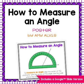 How to Measure an Angle Poster