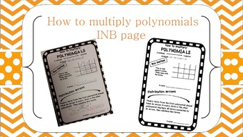 How to Multiply Polynomials INB page