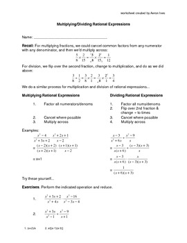 How to Multiply and Divide Rational Expressions