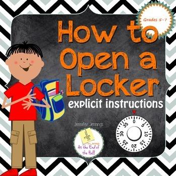How to Open a Locker