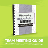 How to Organise Team Meetings - Tips & tools for Childcare