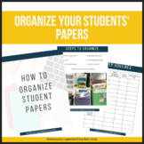 Student Paper Organization Guide