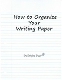 How to Organize Your Writing Paper