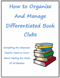 How to Organize and Manage Differentiated Book Clubs