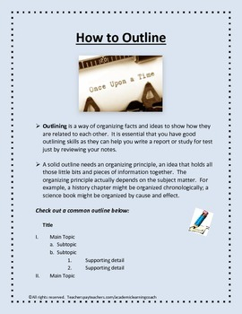How to Outline
