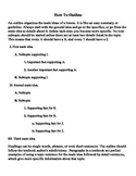 How to Outline - Student Handout
