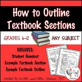 How to Outline Textbook Sections