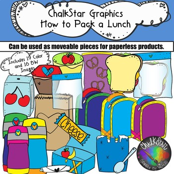 How to Pack a Lunch Clip Art