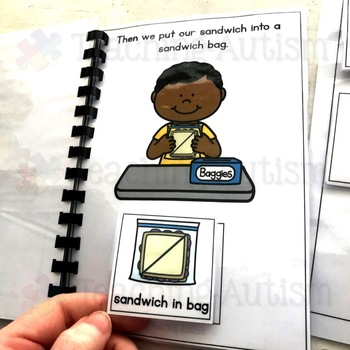 How to Pack a Lunchbox, Sequencing Adapted Book