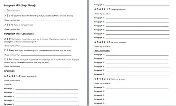 How-to Paper Peer-Editing Rubric