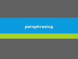 How-to: Paraphrasing