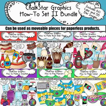 How to Clip Art II Growing Bundle- Chalkstar Graphics