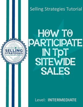 How to Participate in TpT Sitewide Sales