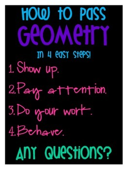 How to Pass Geometry Poster