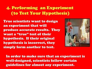 How to Pass a Science Test: A REAL WORLD Use of Scientific Method PPT