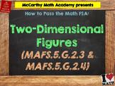 How to Pass the Math FSA - 2D Figures - MAFS.5.G.2.3 and MAFS.5.G.2.4
