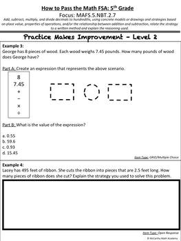 How to Pass the Math FSA - Add, Sub, Mult, Div Decimals - MAFS.5.NBT.2.7