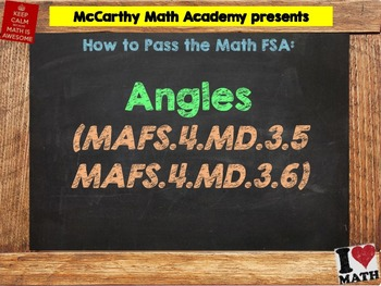 How to Pass the Math FSA - Angles - MAFS.4.MD.3.5, MAFS.4.MD.3.6 (Test Prep)