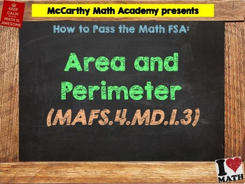 How to Pass the Math FSA - Area and Perimeter - MAFS.4.MD.1.3 (Test Prep)