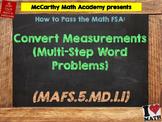 How to Pass the Math FSA - Convert Measurements (Multi-Step) - MAFS.5.MD.1.1