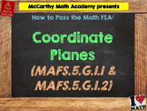 How to Pass the Math FSA - Coordinate Planes - MAFS.5.G.1.1 and MAFS.5.G.1.2