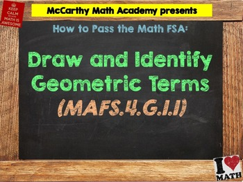 How to Pass the Math FSA - Draw and Identify Geometric Terms - MAFS.4.G.1.1