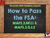 How to Pass the Math FSA - Fractions of Shapes - 3.NF.1.1,