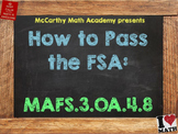 How to Pass the Math FSA - Two Step Word Problems - MAFS.3