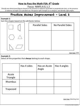 4th Grade Math FSA Test Prep - FREE Videos! (Save 63%)