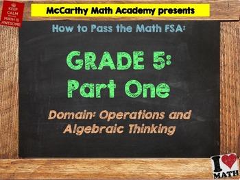 5th Grade Math FSA Test Prep - Part 1 -  FREE Videos