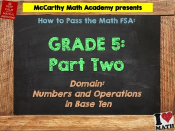 5th Grade Math FSA Test Prep - Part 2 - FREE Videos (Save 52%)