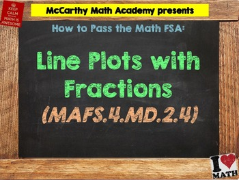 How to Pass the Math FSA - Line Plots with Fractions - MAFS.4.MD.2.4 (Test Prep)