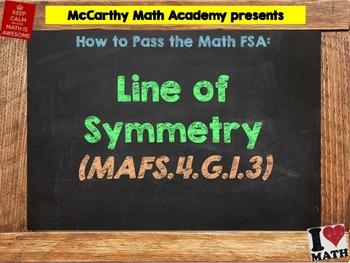 How to Pass the Math FSA - Line of Symmetry - MAFS.4.G.1.3