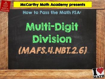 How to Pass the Math FSA - Multi-Digit Division - MAFS.4.NBT.2.6 (Test Prep)
