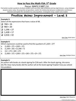 How to Pass the Math FSA - Multi-Digit Division - MAFS.5.NBT.2.6 (Test Prep)