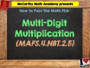 How to Pass the Math FSA - Multi-Digit Multiplication - MAFS.4.NBT.2.5