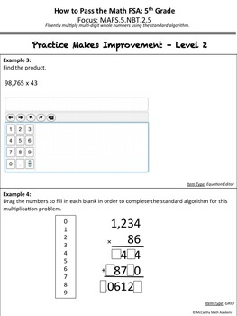 How to Pass the Math FSA - Multi-Digit Multiplication - MAFS.5.NBT.2.5 Test Prep