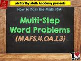 How to Pass the Math FSA - Multi-Step Word Problems MAFS.4.OA.1.3 (Test Prep)