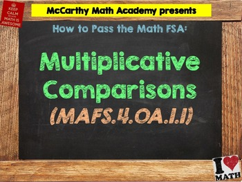 How to Pass the Math FSA - Multiplicative Comparisons- MAFS.4.OA.1.1 (Test Prep)