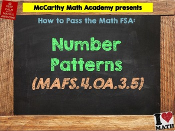 How to Pass the Math FSA - Number Patterns - MAFS.4.OA.3.5 (Test Prep)