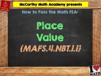 How to Pass the Math FSA - Place Value - MAFS.4.NBT.1.1 (T