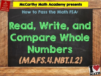 How to Pass the Math FSA - Read, Write, Compare Numbers - MAFS.4.NBT.1.2